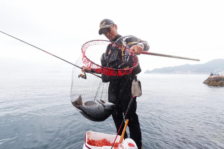危なげのないやり取りでタモ入れに成功。ウマヅラハギに手を焼く展開で、釣り開始から約1時間が経過していた。